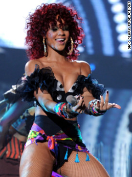"In 2010, Rihanna performed her hits ""What's My Name?"" and ""Only Girl."""