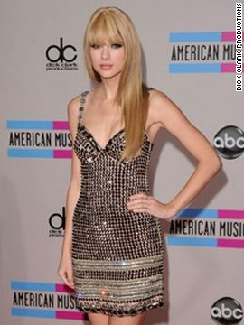 In 2008, Taylor Swift was named favorite country female artist.