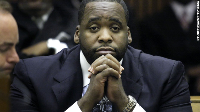 Detroit Mayor Kwame Kilpatrick apologized to his wife and the city after romantic messages, reported by the Detroit Free Press, indicated the Democrat was having an affair with his chief of staff. The chief of staff, Christine Beatty, resigned, but Kilpatrick, said he would not. <br/><br/>In testimony last August, both Beatty and Kilpatrick had denied having a romantic relationship. Kilpatrick later resigned. He is serving a prison sentence of up to five years for violating probation in a 2008 case against him. That case involved two state felony counts of obstruction of justice stemming from his efforts to cover up the extramarital affair. <br/><br/>