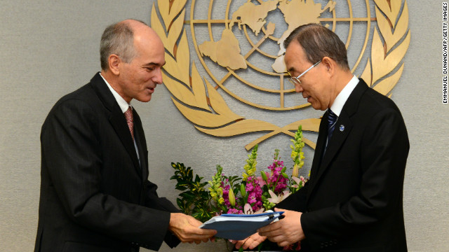 U.N. Secretary-General Ban Ki-moon receives a report on Wednesday from an internal review panel on U.N. action in Sri Lanka.