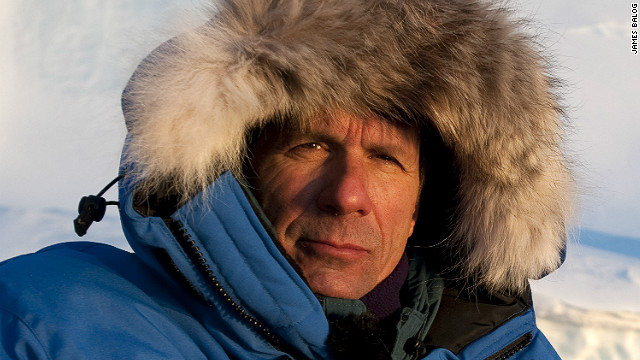 "James Balog, director of the Extreme Ice Survey, at minus 30 degrees F, Disko Bay, Greenland, March 2008. ""What we need is a greater political and public understanding of the immediacy and reality of these changes. I believe that this film can help shift public perceptions by telling people a story that is real and happening now,"" says Balog. <i>C</i><i>ourtesy of James Balog</i><br/><br/><i></i>"