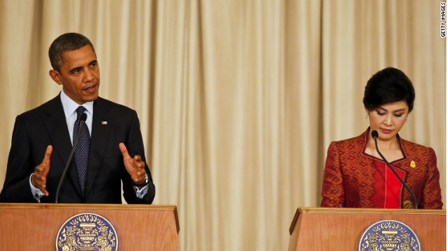 Obama welcomes 'good vibes' in Thailand