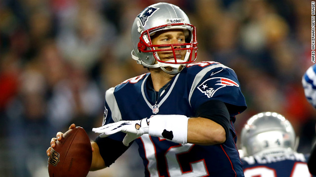 Tom Brady of the Patriots throws a pass against the Colts during the game on Sunday.