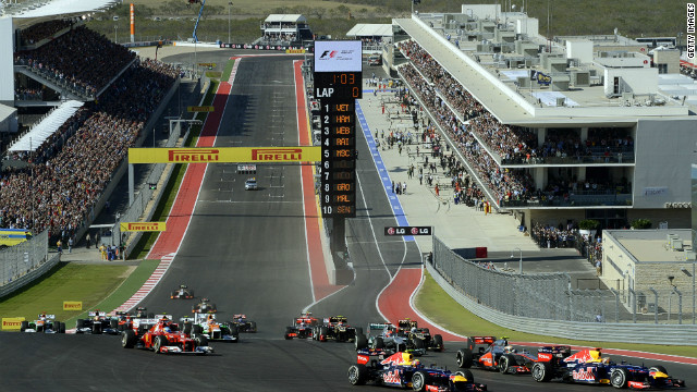 The world's top drivers go into the first turn of the Austin circuit, as a tortuous journey to get F1 back to the United States officially ends.