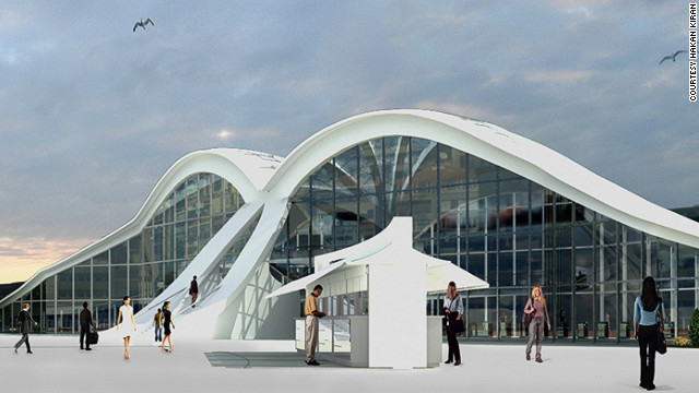 The building will house a new metro link, a tram station, an underpass for vehicles and ferry docks. When it opens, the new transport hub will facilitate the transfer of 90,000 travelers daily. 