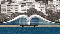 Kabatas Seagull transportation hub on the western Bosphorus shore