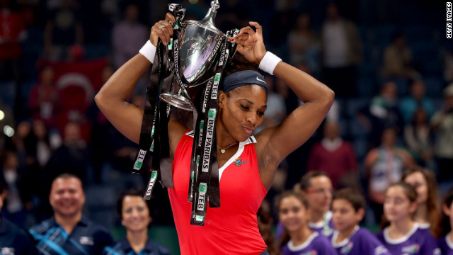 Serena Williams ended a dominant second half of 2012 by winning the season-ending WTA Championships in Istanbul. It marked the end of a dramatic change in fortunes for the 31-year-old.