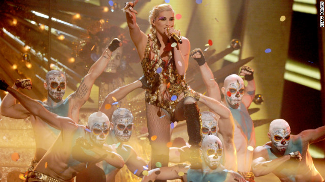Kesha performs onstage during the 40th American Music Awards held at Nokia Theatre L.A. Live on November 18, 2012 in Los Angeles, California.