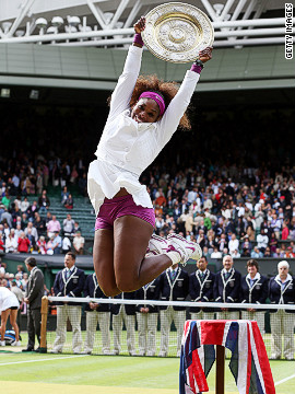 But Serena stormed back to form at Wimbledon where she secured her fifth singles title at the All England Club and 15th grand slam crown. She overcame a mini meltdown after losing the second set in the final when she thought to herself: &quot;I'm never going to win another grand slam.&quot;