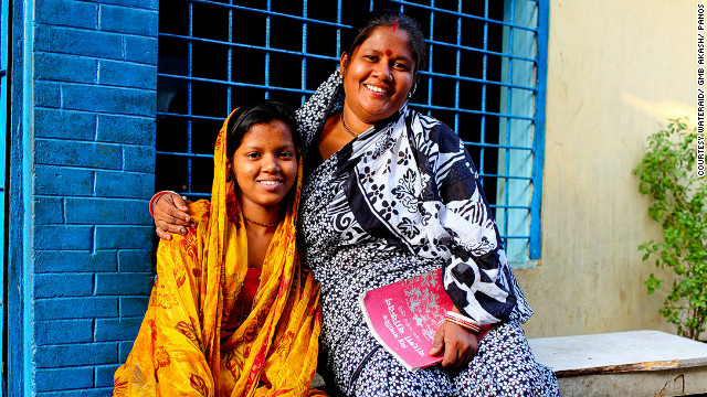 "Bashona Sharkar and her daughter Tithi live in Dhaka, Bangladesh. Bashona says that the improvement in sanitation has allowed her daughter to get an education: ""Before this situation, I don't think I could send my child to this school. We used to spend lots of money on doctors because of the poor sanitation ... but now we can spend more money sending our children to school and college.""<br/><br/>"