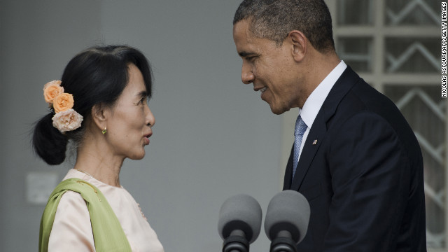 Obama praises courage of Aung San Suu Kyi