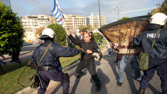 Photos: Greeks protest austerity