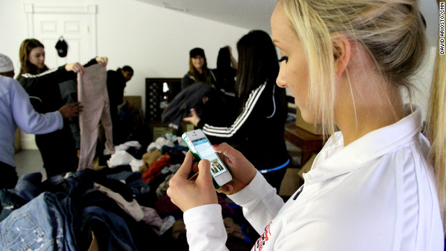 "Olympic Gold medalist Nastia Liukin tweets her more than 190,000 Twitter followers, asking people to send ""canned food, bread and non perishable foods"" to support the relief effort."