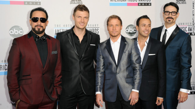 """I'm thankful for our 20th anniversary, with all five of us back together,"" Howie Dorough of the Backstreet Boys told <a href='http://www.people.com/people/videos/0,,20649397,00.html' target='_blank'>People magazine</a> at the American Music Awards on November 19. Nick Carter added: ""I'm thankful to the AMAs for letting us come here 'cause we're so old and we've been around forever.""<br/><br/>"