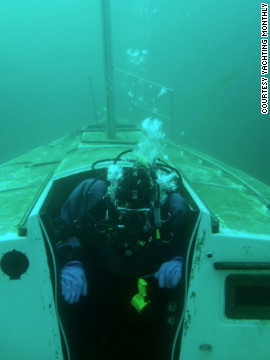 The team drilled a hole in the hull as part of its sinking experiment. They found that one of the quickest methods for stemming the flow of water was covering it with a cushion.