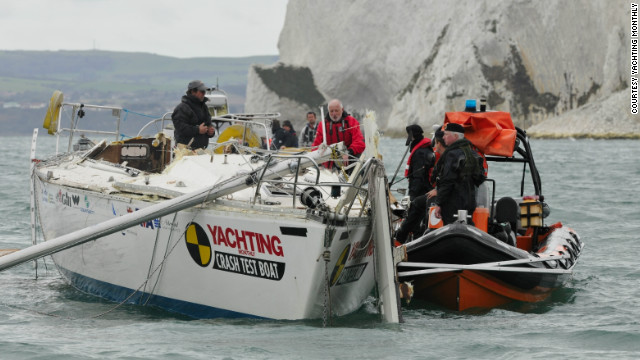 Royal Navy explosives experts were enlisted to set up the final blast, carried out in a 200 meter exclusion zone off the Isle of Wight in Britain.