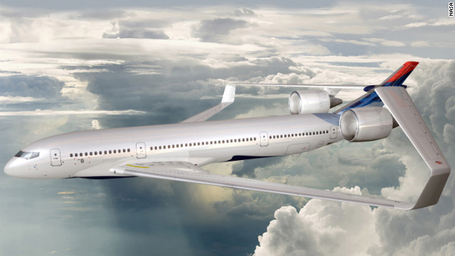 "NASA asked aircraft manufacturers for aircraft designs aimed at saving fuel, while limiting noise and pollution. In this concept, Lockheed Martin proposed ""box wings"" that would wrap around the entire aircraft. It combines lightweight materials and super-efficient turbo-fan engines."