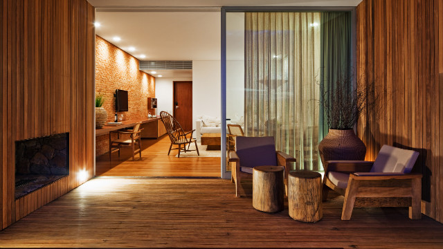 Located in Porto Feliz, 100km away from the bustling business hub of Sao Paulo, the Fasano Boa Vista resort boasts was designed by Brazilian architect, Isay Weinfeld.