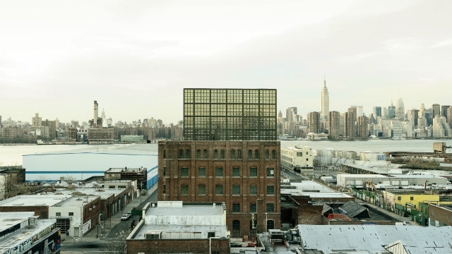 This industrial building on the Brooklyn waterfront is now the Wythe Hotel, a 72-room facility with original exposed brickwork, arched windows and cast-iron columns. 