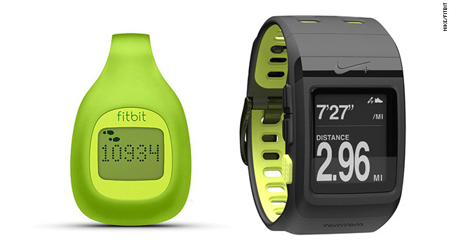 Just in time for New Year's resolutions, these beefed-up pedometers track more than steps. The <a href='http://www.fitbit.com/zip' target='_blank'>Fitbit Zip</a> (left, $60) tracks steps, calories and distance, and lets you compete against friends. The <a href='http://nikeplus.nike.com/plus/products/sport_watch/' target='_blank'>Nike+ Sportwatch GPS</a> (right, $169) records your location, pace, calories and heart rate while keeping you motivated with gentle reminders.