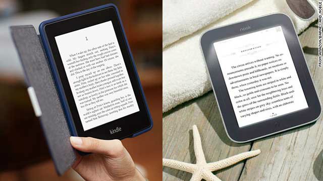 Tablets are perfect for playing games and watching movies, but avid readers might prefer a mono-tasking device that's easy on the eyes. These E Ink readers have excellent battery life and work in low light. The <a href='http://www.amazon.com/Kindle-Paperwhite-Touch-light/dp/B007OZNZG0' target='_blank'>Kindle Paperwhite</a> (left, $119 with ads) is great for Amazon Prime members. The <a href='http://www.barnesandnoble.com/p/nook-simple-touch-with-glowlight-barnes-noble/1108046469' target='_blank'>Nook Simple Touch with GlowLight</a> (right, $119) reads standard ePub files.