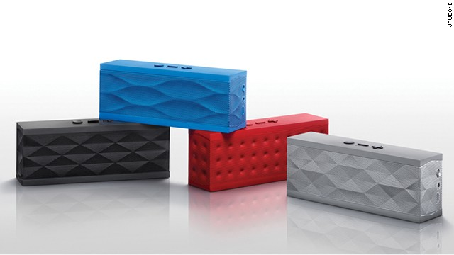 Built-in smartphone and tablet speakers don't, as a rule, rock. This portable Bluetooth speaker is the perfect solution. It combines slick design with great sound quality and is available in a variety of customizable colors and textures. &lt;a href='https://jawbone.com/speakers/jambox/overview' target='_blank'&gt;The Jawbone Jambox&lt;/a&gt; is just 2.24 inches tall and costs $199.