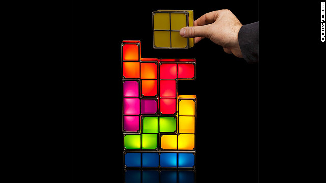 Tetris lovers of all ages will dig this stackable LED desk lamp, and its seven pieces -- like the video game -- can be stacked in nearly endless combinations. The light flicks on when the pieces are stacked together and stays off when they're dissembled. The whole thing plugs into a wall outlet and is available for $39.99 from &lt;a href='http://www.thinkgeek.com/product/f034/#tabs'&gt;ThinkGeek&lt;/a&gt;.