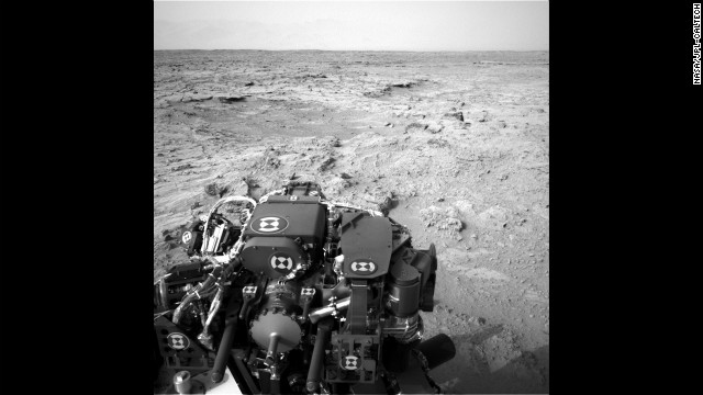 "The Mars rover Curiosity recorded this view from its left navigation camera after an 83-foot eastward drive on Sunday, November 18. The view is toward ""Yellowknife Bay"" in the ""Glenelg"" area of Gale Crater."