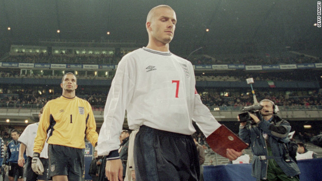 Beckham's redemption was complete in 2000, when caretaker England manager Peter Taylor made him captain of the national team. He retained the role under Sven-Goran Eriksson, leading England at the 2002 and 2006 World Cups and the 2004 European Championships.