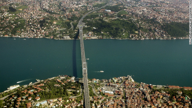 A 0.9-mile section of the tunnel will delve deep beneath the waters of the Bosphorus, which separate continental Asia and Europe, carrying an estimated 150,000 passengers every hour.