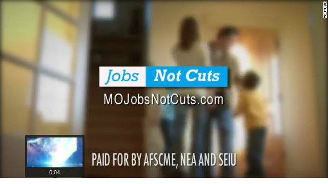 Labor groups rally against spending cuts in fiscal cliff ads