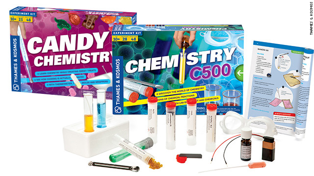 <a href='http://www.thamesandkosmos.com/' target='_blank'>Thames & Kosmos</a> has a broad selection of science sets that teach kids the basics with fun, hands-on experiments. There are <a href='http://www.thamesandkosmos.com/products/chem/chemc3000.html' target='_blank'>classic chemistry sets</a> for all levels, including one that doubles as a <a href='http://www.thamesandkosmos.com/products/exploration/candy.html' target='_blank'>candy-making kit</a>. Our other favorites include the <a href='http://www.thamesandkosmos.com/products/ig/ig_ffl.html' target='_blank'>fingerprint lab</a>, the <a href='http://www.thamesandkosmos.com/products/exploration/ve.html' target='_blank'>volcano and earthquake kit</a>, and the <a href='http://www.thamesandkosmos.com/products/pw/pw2.html' target='_blank'>physics workshop</a>.