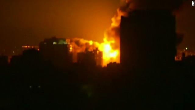 Cloud of smoke over Gaza City