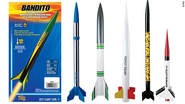 These are great for a little parent-child bonding time. First you make and customize the <a href='http://www.estesrockets.com/rockets/' target='_blank'>Estes model rocket</a>, then you shoot it hundreds of feet into the air and oooh and aaaah. If all goes according to plan, the rocket will kick out a little parachute and float safely back down to Earth. If not, you get to make a new one. Estes rockets start at $6, but nicer versions can cost as much as $70.