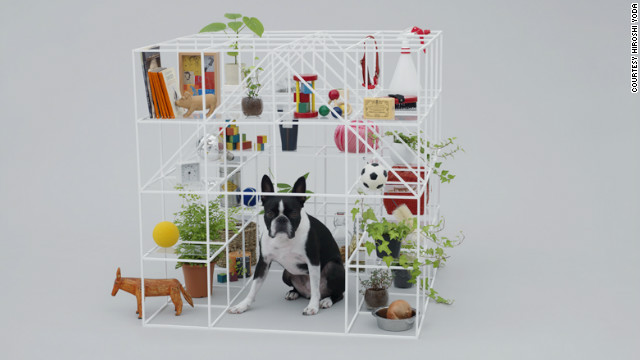 '&quot;No dog, no life!&quot; house by Sou Fujimoto for a Boston Terrier.