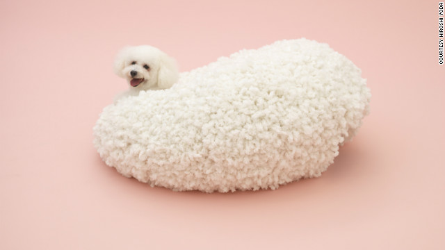 &quot;Architecture for a Bichon Frise&quot; by Kazuyo Sejima, constructed in collaboration with knit designer Keiichi Muramatsu.