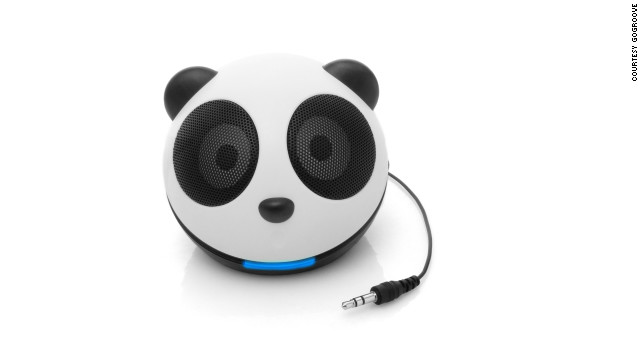 Kids (and more than a few adults) will get a musical kick out of this little <a href='http://www.gogrooveaudio.com/components/virtuemart/?page=shop.product_details&flypage=flypage.tpl&product_id=5&category_id=1'>panda-shaped speaker</a>, which connects to a phone, laptop, tablet or MP3 player to power your tunes on the go. Available for $24.99 from Amazon and other retailers.