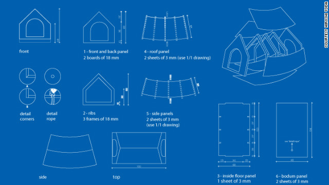 The blueprint for the Beagle House.