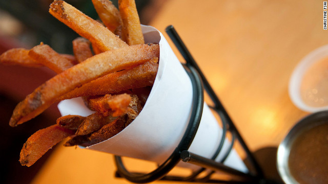 When it comes to delivering the perfect fry, it's all in the name at this Portland sandwich shop.