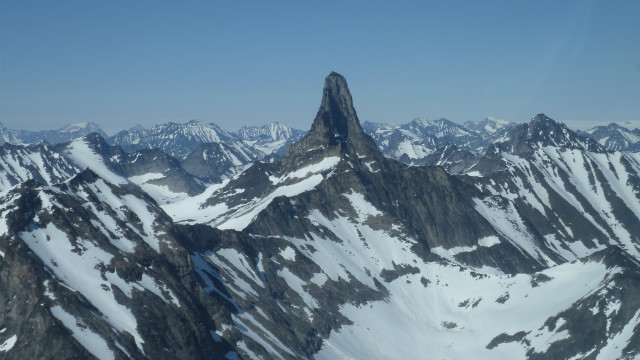 The amazing church top mountain, a landmark in southern Greenland. It gets it's name because the peak is shaped like a cathedral.