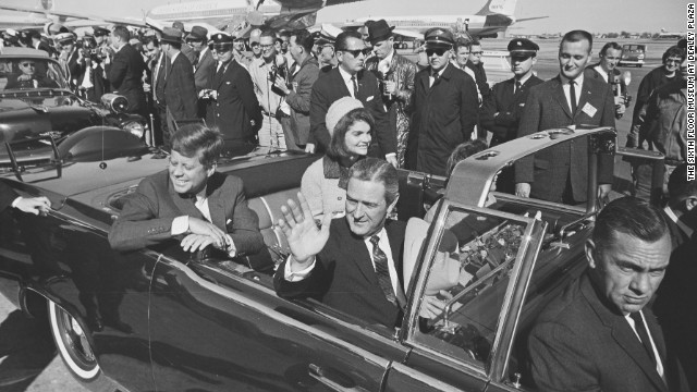 JFK motorcade in Dallas.