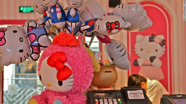 Even the register is decorated with Hello Kitty balloons that can be purchased at the last minute.