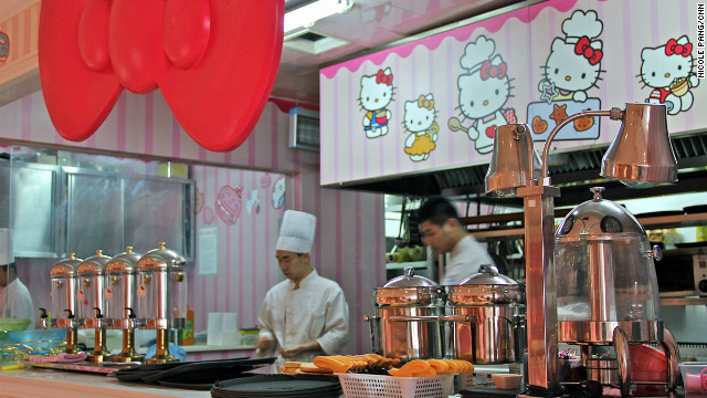 Hello Kitty restaurant is cute, of course, but food isn't quite the cat's meow