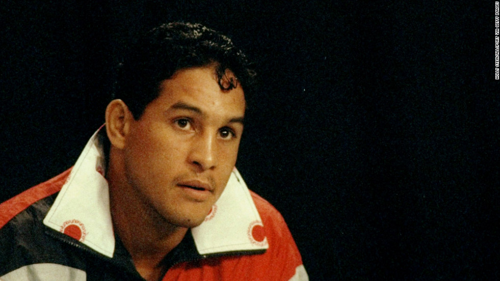 "Famed Puerto Rican boxer Hector ""Macho"" Camacho, seen here in 1993, died Saturday, November 24. A gunman shot him in the face two days earlier in front of a bar in his hometown of Bayamon, Puerto Rico."