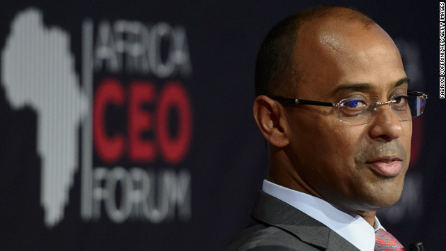 Ecobank Group chief executive officer Thierry Tanoh at the Africa CEO Forum in Geneva. 
