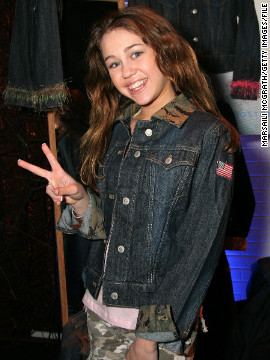 "Seen here at 13 in May 2006, Miley Cyrus was the star of the Disney Channel's ""Hannah Montana"" series, playing a teen with a secret pop star alter-ego."