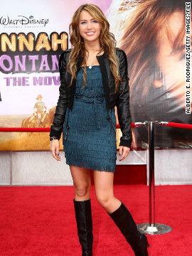 "Cyrus had a box office success with 2009's ""Hannah Montana: The Movie."" Here, she arrives at the film's Los Angeles premiere in April 2009."