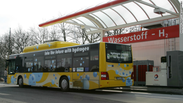 Other applications of hydrogen fuel-cells include buses. Fuel-cells are seen as more efficient and effective for large vehicles than standard battery powered electric vehicles. 
