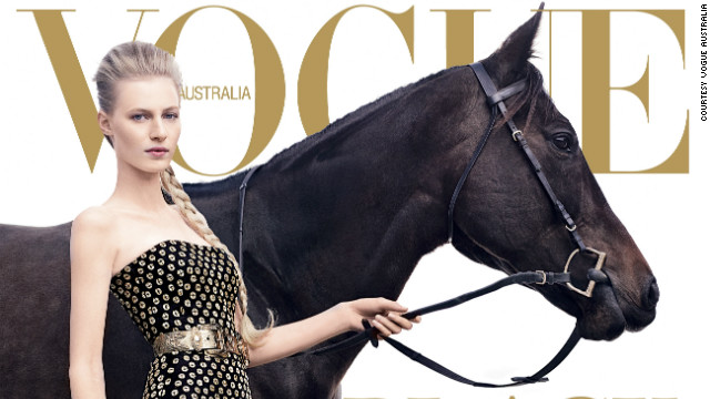 Champion thoroughbred Black Caviar's achieved such fame that the mare appeared in an issue of Vogue Australia.