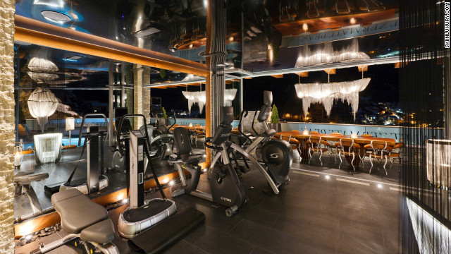 If you fancy working out in front of a five-star view then Zermatt Peak could be just the ticket. It makes the most of its stunning views with a jacuzzi that begins in the wellness center and extends outside onto the terrace. Should you want to stay inside, three HD cinema rooms should keep you entertained.